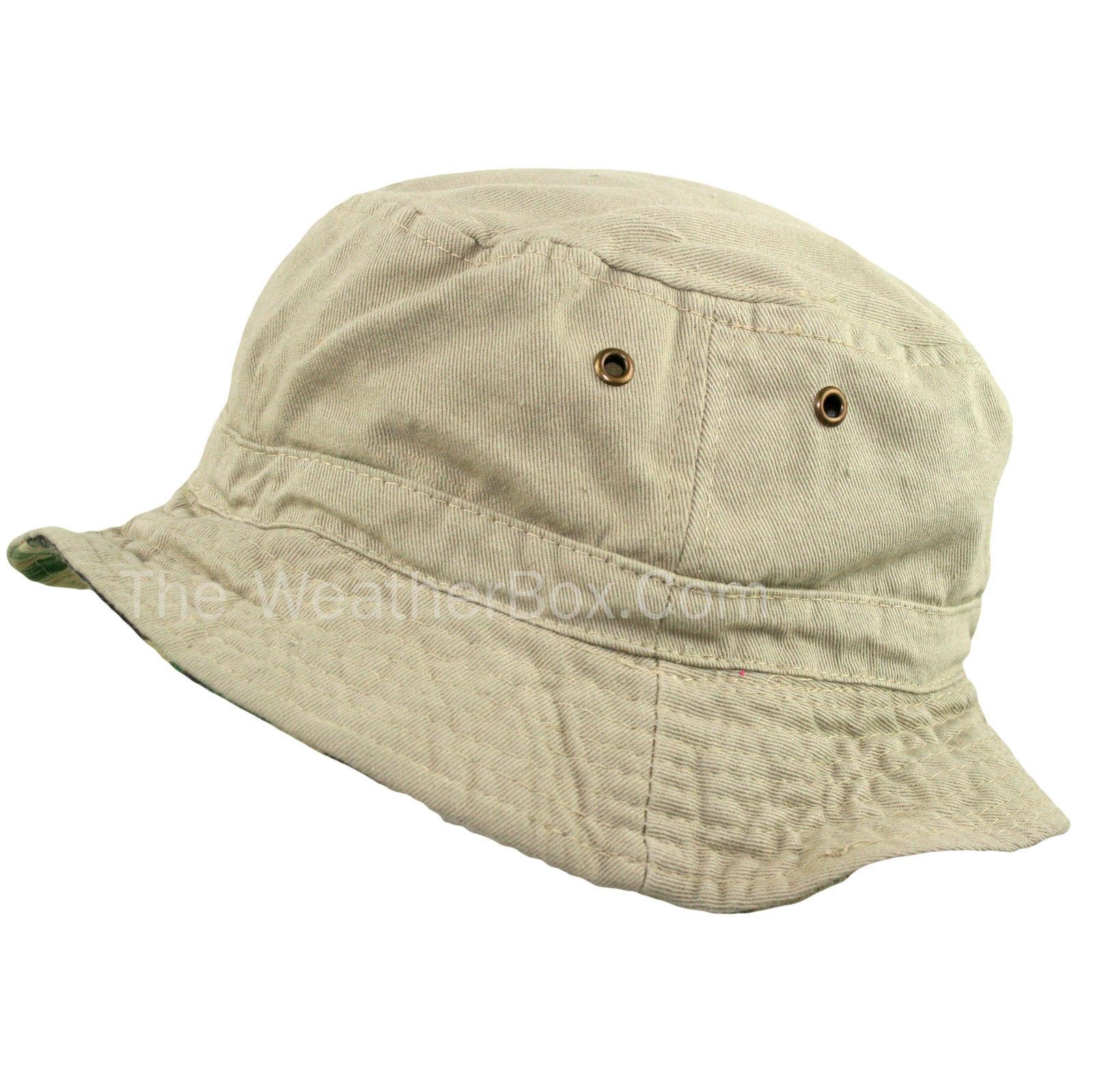 Camouflage beige bush hat mens ladies summer sun fishing for Fishing boonie hat