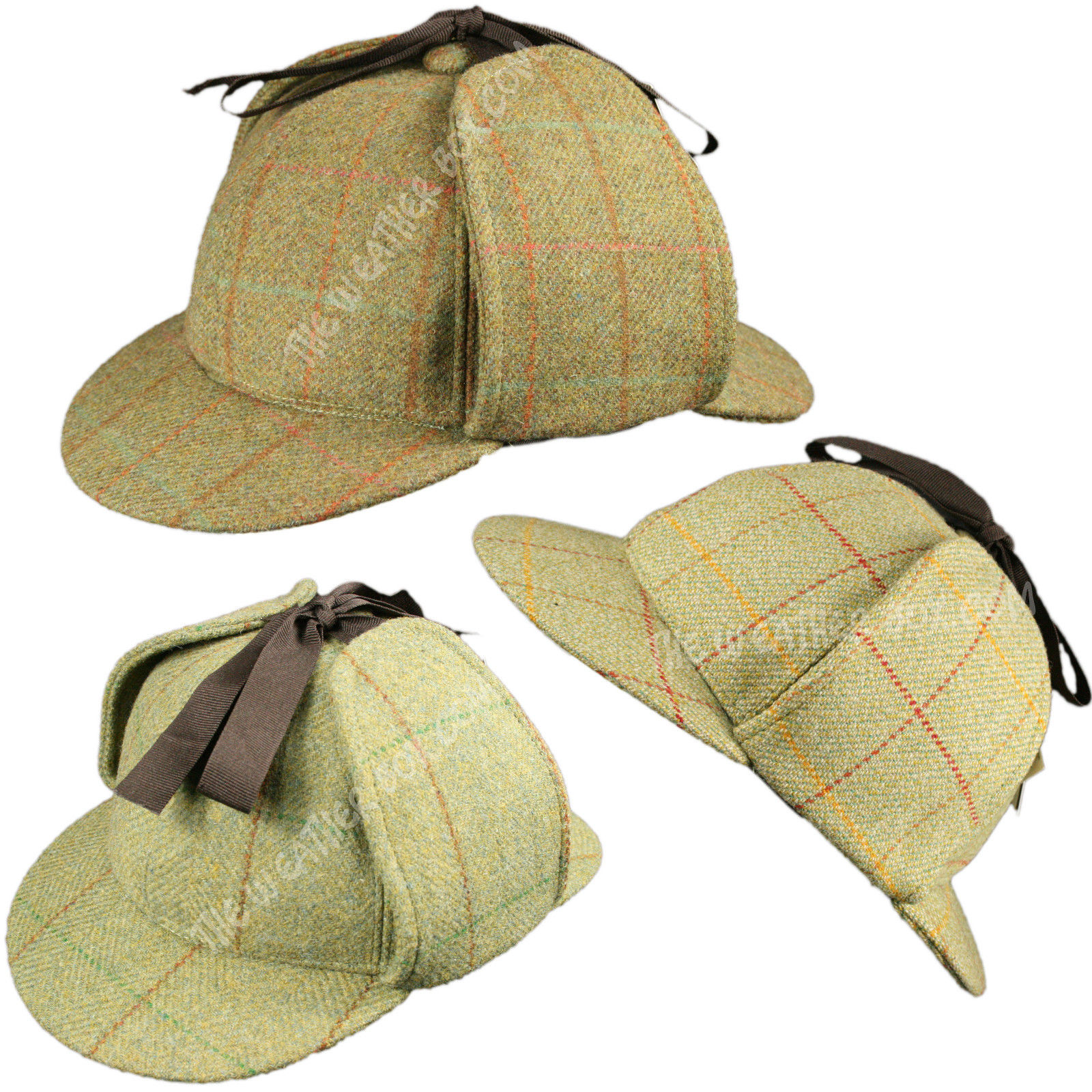 100 Wool Tweed Deerstalker Hat Waterproof Sherlock Holmes English