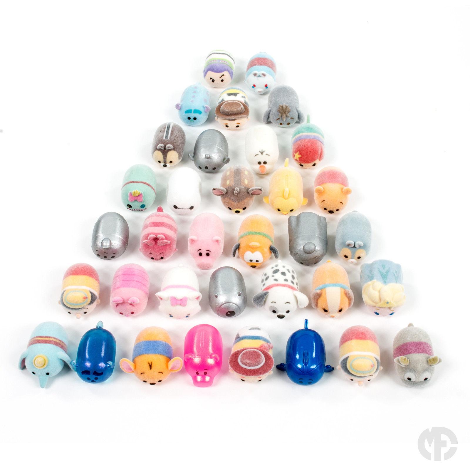 Disney Tsum Tsum Squishies - Series 2 Fuzzy Feel Figures - Choose your Figure eBay