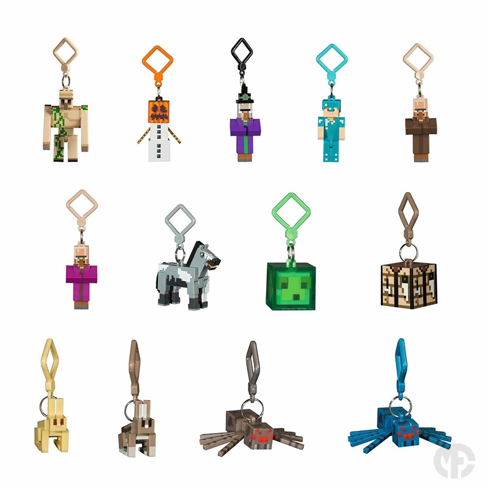 Series 3 minecraft 3d keyring keychain belt bag hangers for Rick and morty craft list