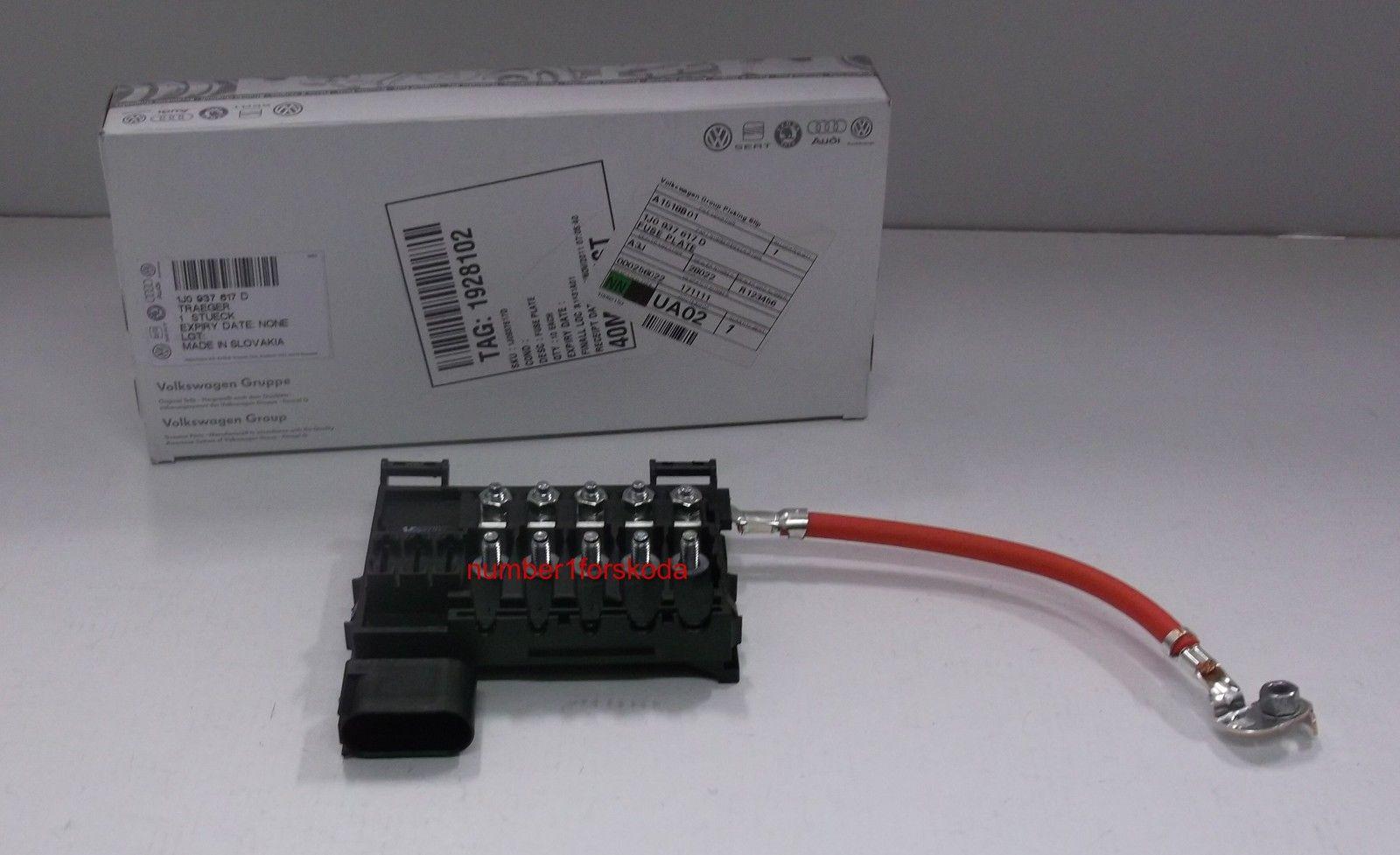 genuine skoda octavia mk1 1u battery fuse box 1j0937617d. Black Bedroom Furniture Sets. Home Design Ideas