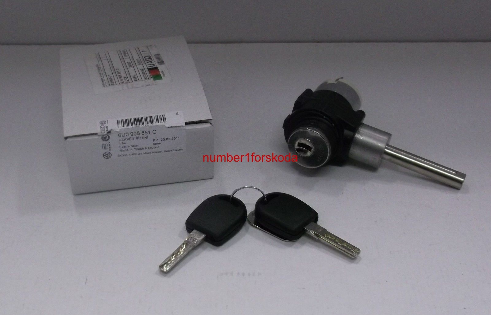 genuine skoda replacement ignition lock keys 6u0905851c ebay. Black Bedroom Furniture Sets. Home Design Ideas