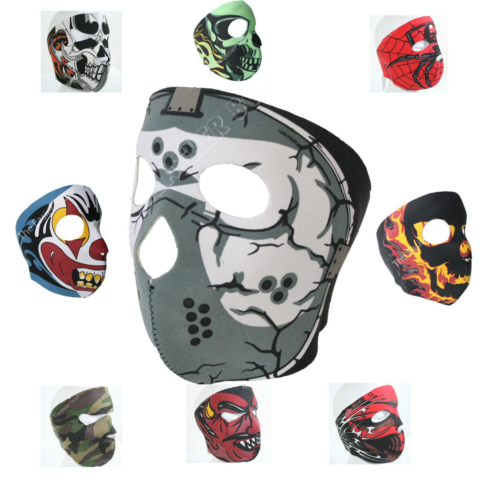 Neoprene-Full-Face-Mask-Motorbike-Biker-Ski-Paintball-Snowboard-Sports-Balaclava