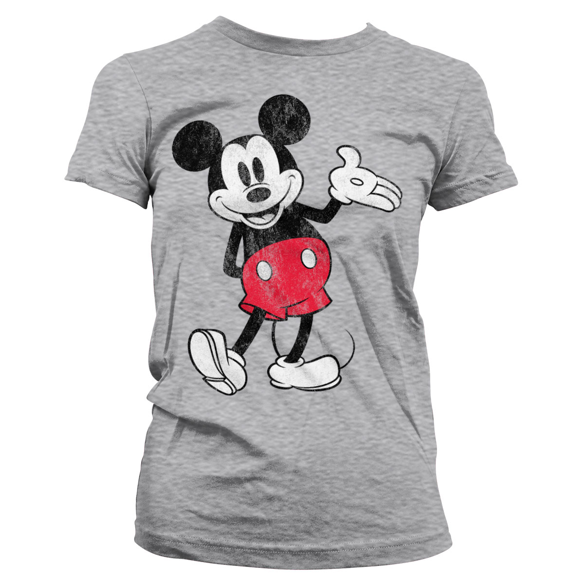 Ladies Mickey Mouse Walt Disney Pose Official Tee T-Shirt Womens