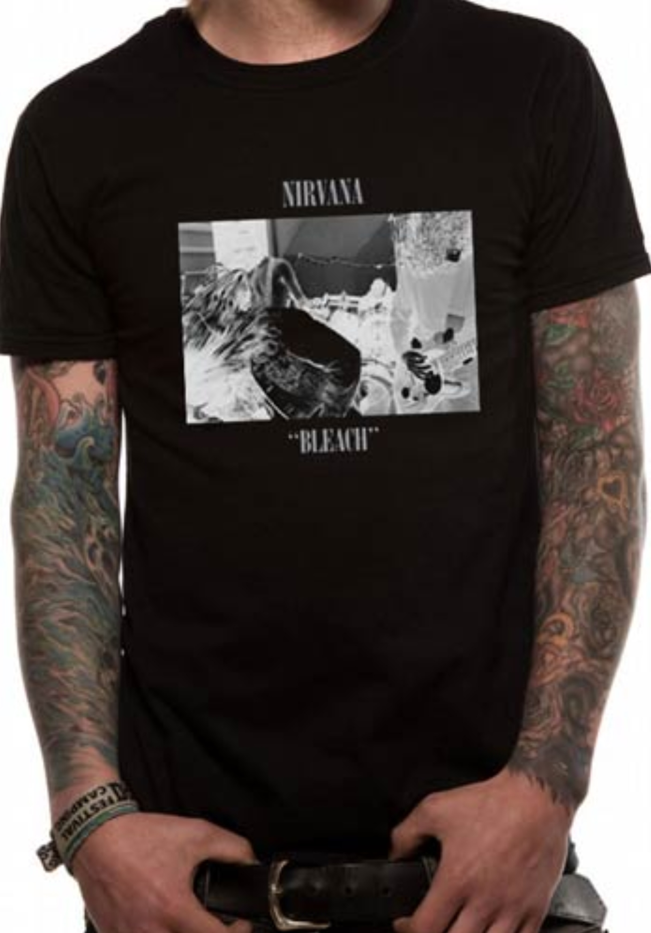 301fcf50d40 Details about Nirvana Bleach Album Kurt Cobain Rock Grunge Licensed Tee T- Shirt Men