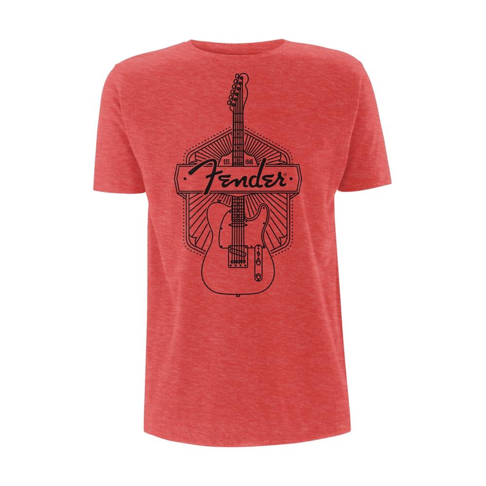FENDER GUITARS RED LOGO MEN black t-shirt 100/% cotton personalized tee
