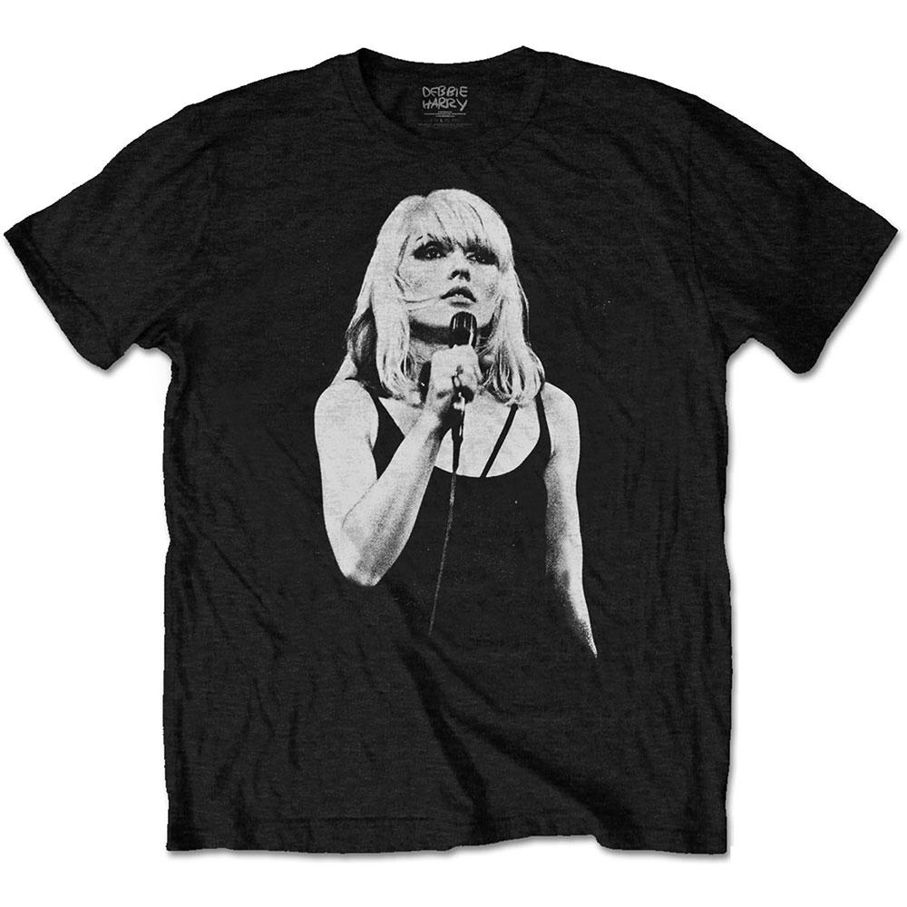 Blondie Debbie Harry Mic Pose 2 Parallel Lines Official Tee T-Shirt Mens Unisex