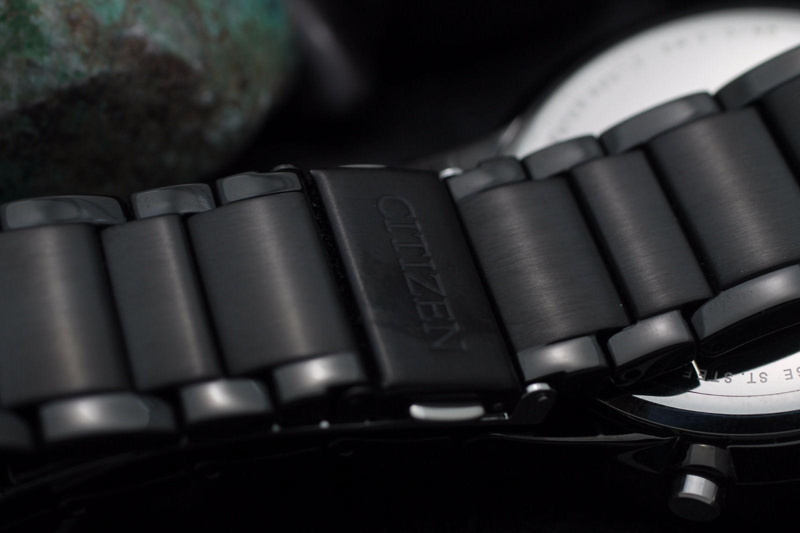 Mens Citizen Eco Drive Chronograph Black Pvd H504 Dress Watch Full Ca4285 50h Product Description