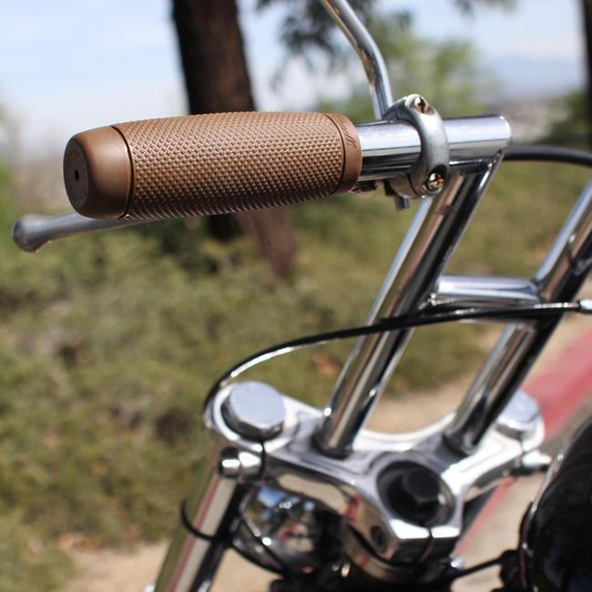 """Biltwell thruster 1/"""" 25mm handlebar grips rubber black-tpv"""