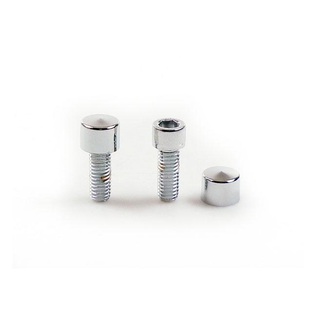 M6 Chrome Allen Sockethead 6mm Bolt Covers uses 5mm Key Highway Hawk 03-316