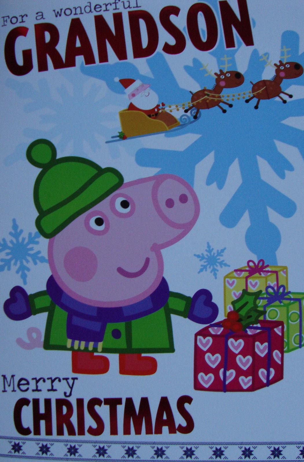 Peppa Pig Christmas Card Son Daughter Sister Brother Nephew Niece Ebay