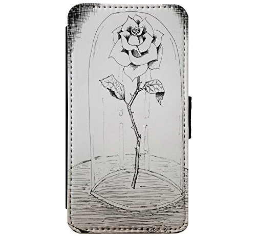 Beauty Amp The Beast Rose Drawing Leather Flip
